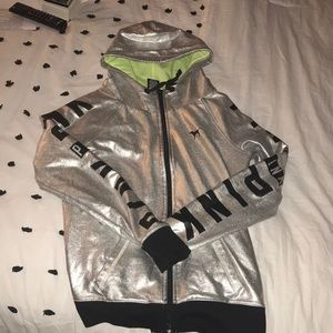 PINK By VS Silver Hooded Sweater